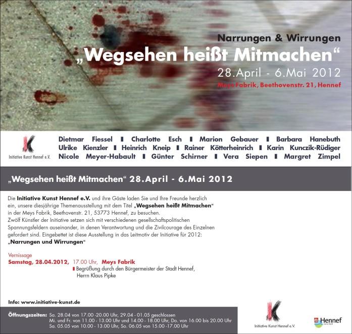 Plakat/Flyer Themenausstellung 2012