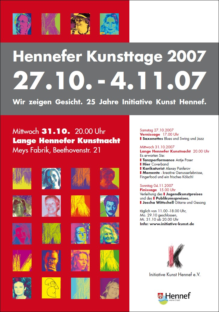 Plakat Hennefer Kunsttage 2007