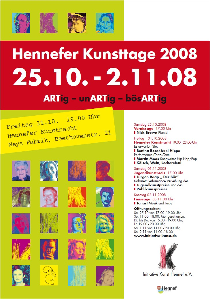 Plakat Hennefer Kunsttage 2008