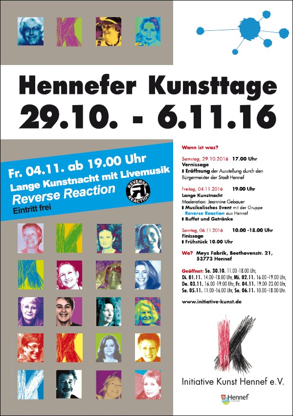 Plakat Hennefer Kunsttage 2016