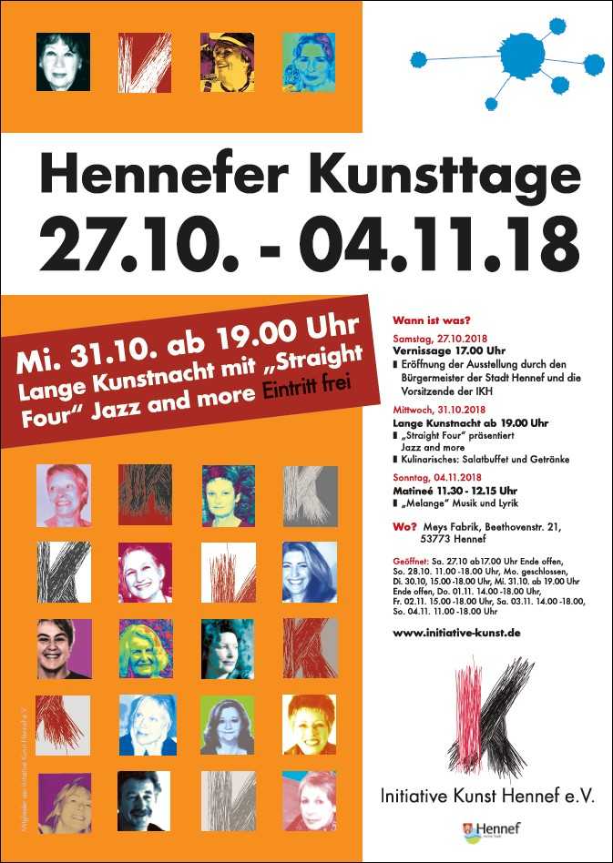 Plakat Hennefer Kunsttage 2018